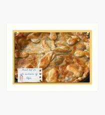 Aye it's a Pie! Art Print