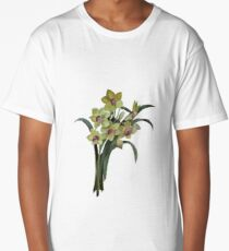 Lent Lily Spring Bouquet Vector Long T-Shirt