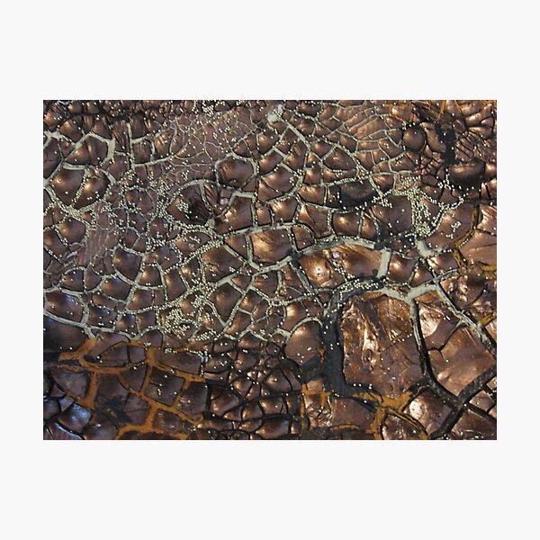 Experimentell  II - Earth - Edelsteine - Smaragde - Sand Fotodruck