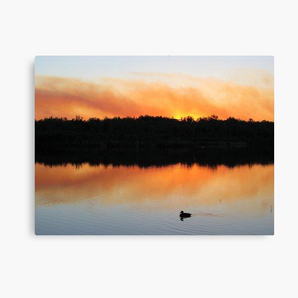 Sunset Smoke Canvas Print