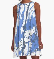 Color blot spots BLUE A-Line Dress