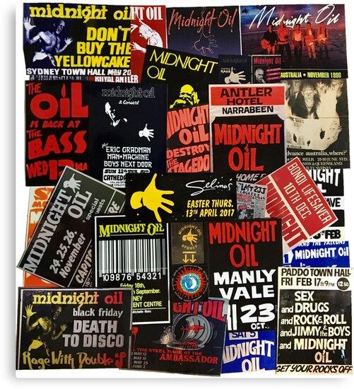 midnight oil wall 1  by walshysan