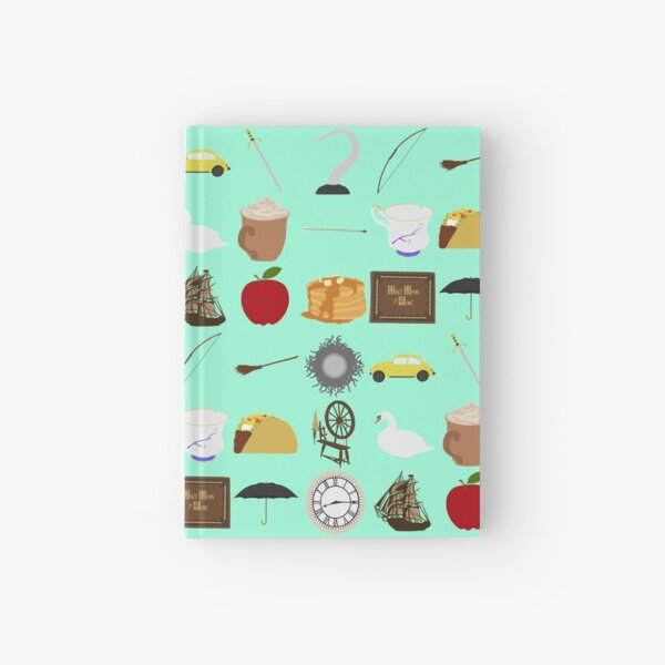 Once Upon a Time symbols Hardcover Journal