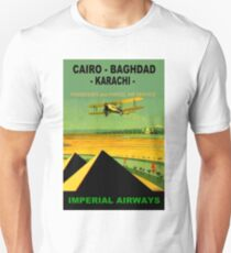 IMPERIAL AIRWAYS ; Vintage Airline Travel Advertising Print Unisex T-Shirt