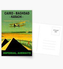 IMPERIAL AIRWAYS ; Vintage Airline Travel Advertising Print Postcards