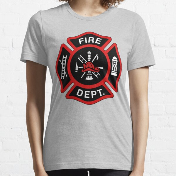 Red Fire Department Badge Essential T-Shirt