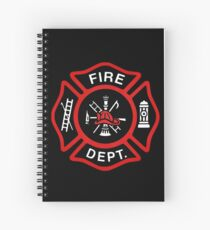Red Fire Department Badge Spiral Notebook