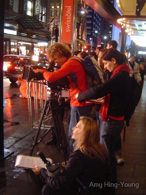 Cameraman & Crew in the streets of Sydney by Amy Hing-Young
