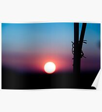Rusty Colorful Sunset Poster