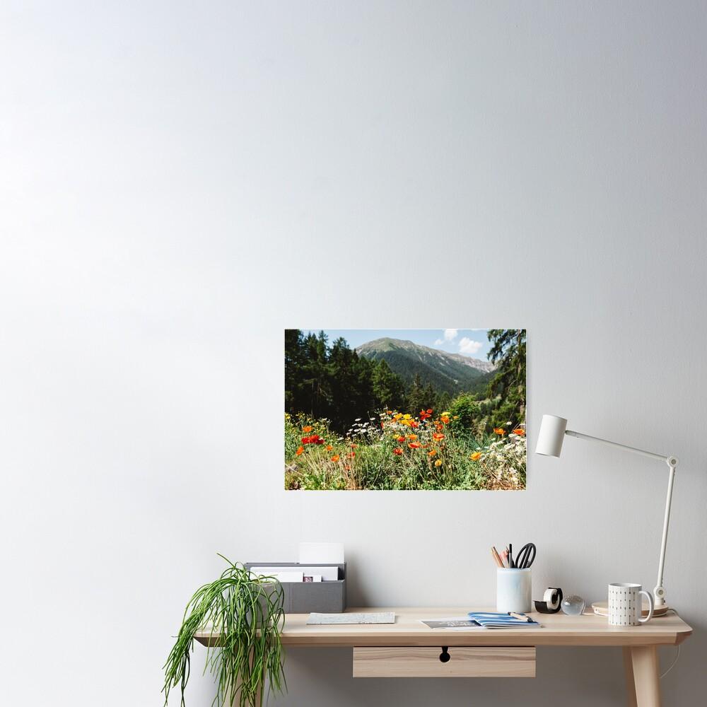 Mountain garden Poster