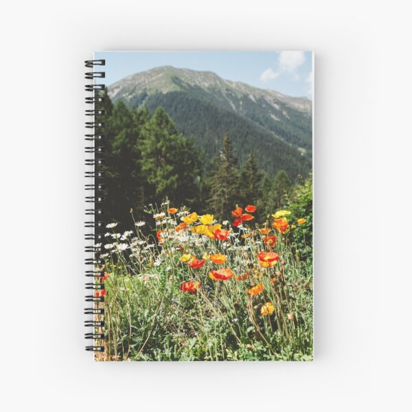 Mountain garden Spiral Notebook