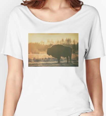 Bison Silhouette Women's Relaxed Fit T-Shirt