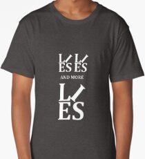 Lies Lies and More Lies White Text Parody Long T-Shirt