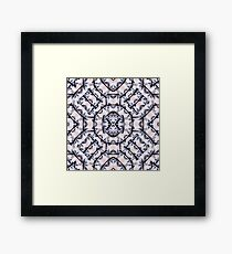 Futuristic Geometric Pattern  Framed Print