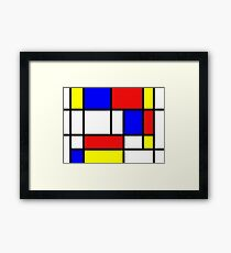Red,blue yellow and white Framed Print
