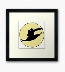 Flying with the Moon Framed Print