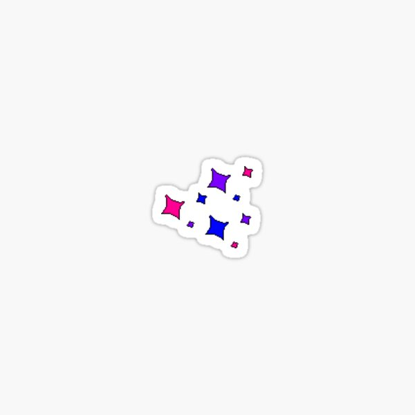 Tiny Bi pride glitter stars Sticker