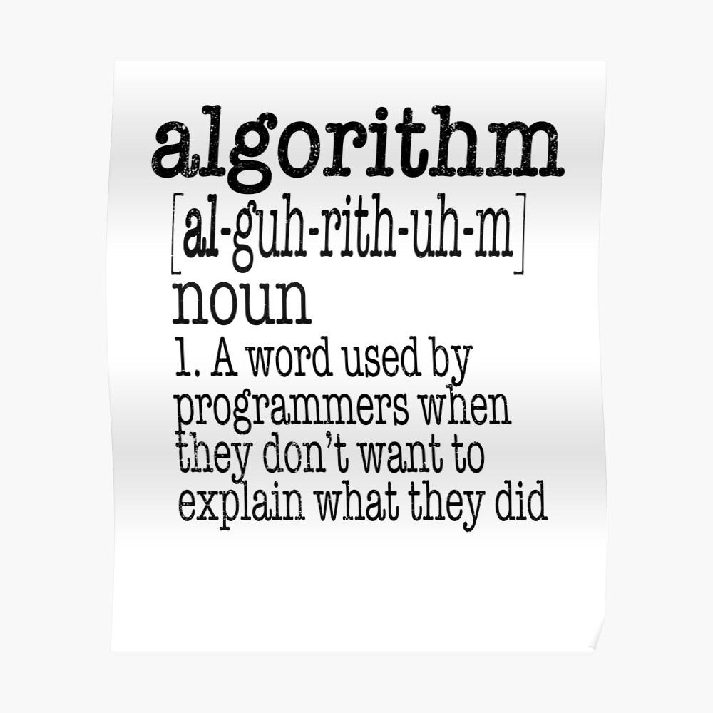 Algorithmus Computerprogrammierer Definition Poster
