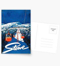 Stowe vertmont Vintage sking Skireiseplakataufkleber Postkarten