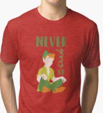 Never Grows Up Peter Tri-blend T-Shirt