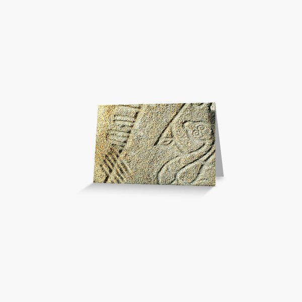 Brandsbutt Pictish stone Greeting Card