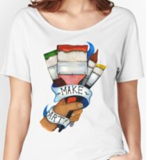 Make Art Women's Relaxed Fit T-Shirt