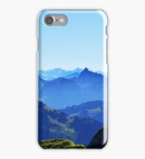 Mist over the Swiss Alps iPhone Case/Skin