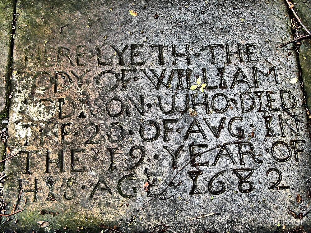 Gravestone at Egglestone Chapel by hilarydougill