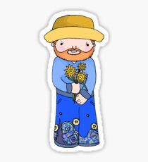 Little Vincent Van Gogh Sticker