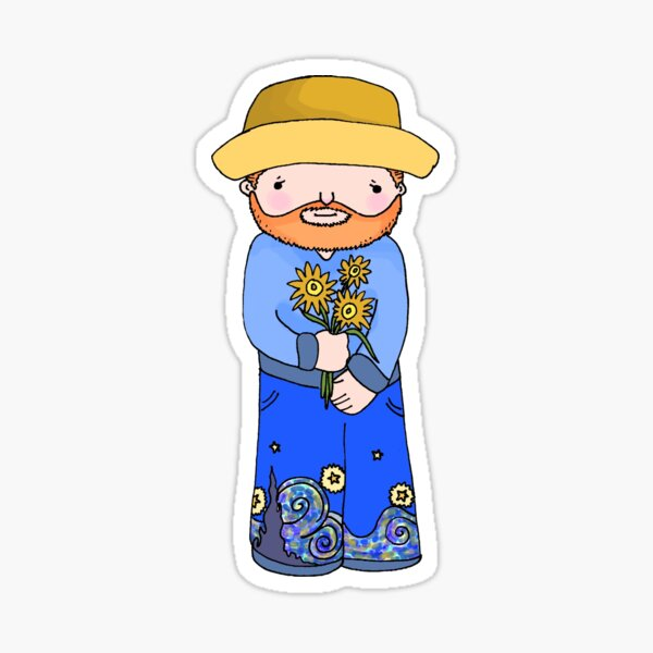 Little Vincent Van Gogh Sticker