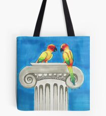 Sun Conures chatting Tote Bag