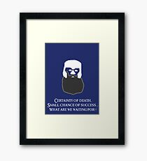 Lord of the Rings - Gimli's Small Chance of Success Framed Print