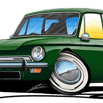 Hillman Imp Dark Green by yeomanscarart
