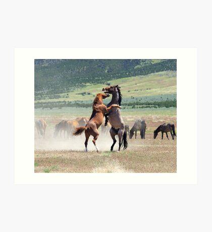 Wild Struggle Art Print