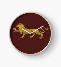 heraldry lion Clock