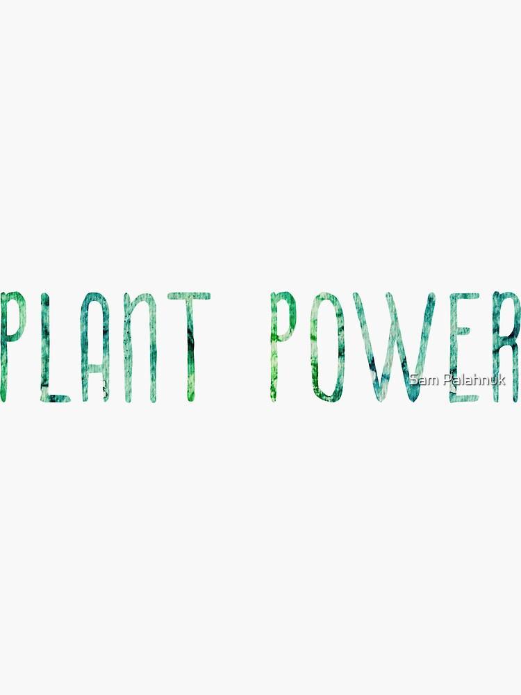 Plant Power sticker / design by sampalahnukart