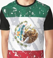 Mexico Grunge Vintage Flag Graphic T-Shirt