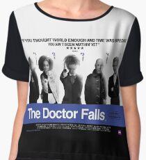 Choose Life. Choose Regeneration. - Doctor Who/Trainspotting Parody Poster Women's Chiffon Top