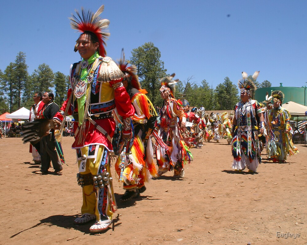 A Parade of Tribal Dancers by Eagleye