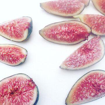 figs on white background by rrandj