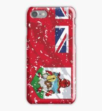 Bermuda Grunge Vintage Flag iPhone Case/Skin