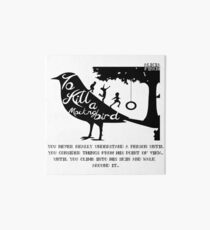 To Kill A Mocking Bird Art Board