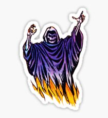 Flaming Ghost Sticker