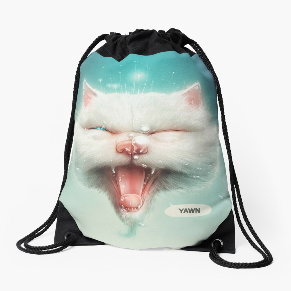 The Water Kitty Drawstring Bag