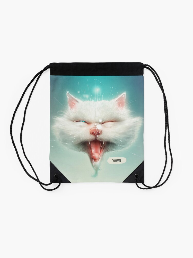 Alternate view of The Water Kitty Drawstring Bag