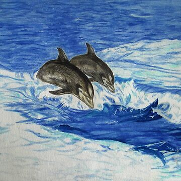 Dolphins in the Ocean by leororing
