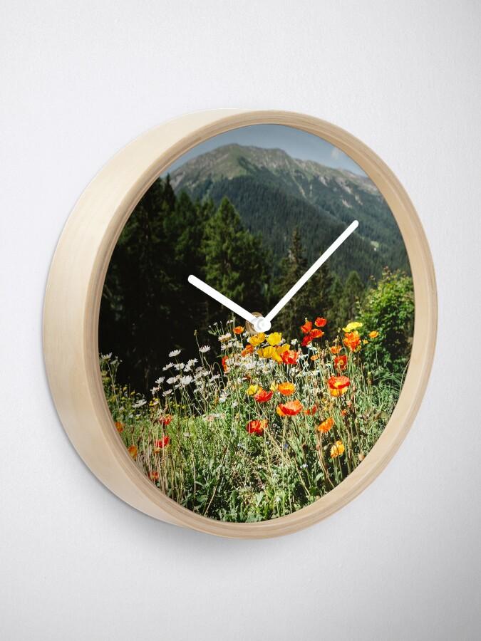 Alternate view of Mountain garden Clock