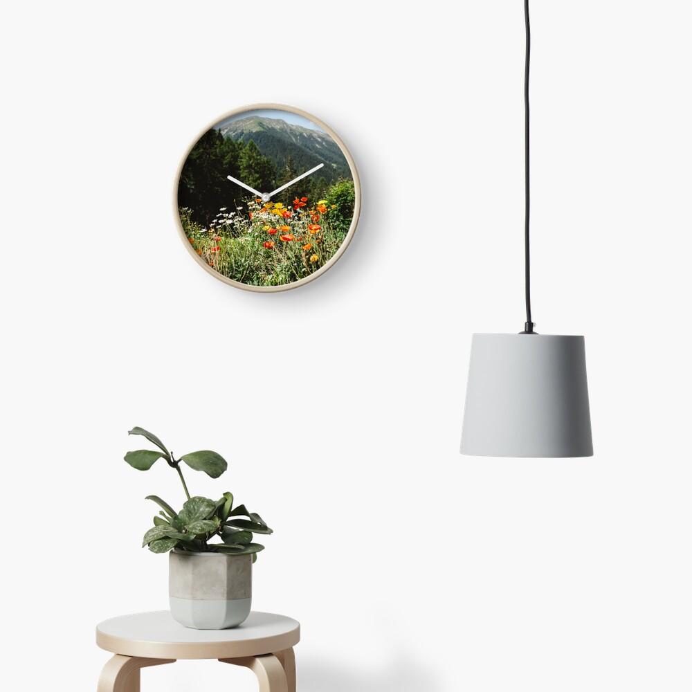 Mountain garden Clock