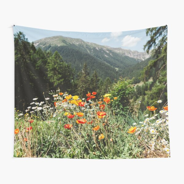 Mountain garden Tapestry
