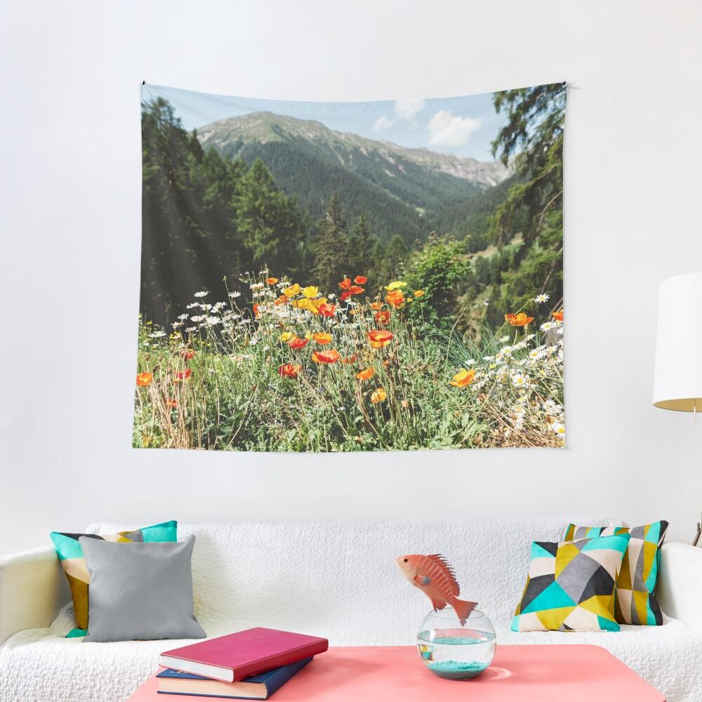 Mountain garden Tapestry